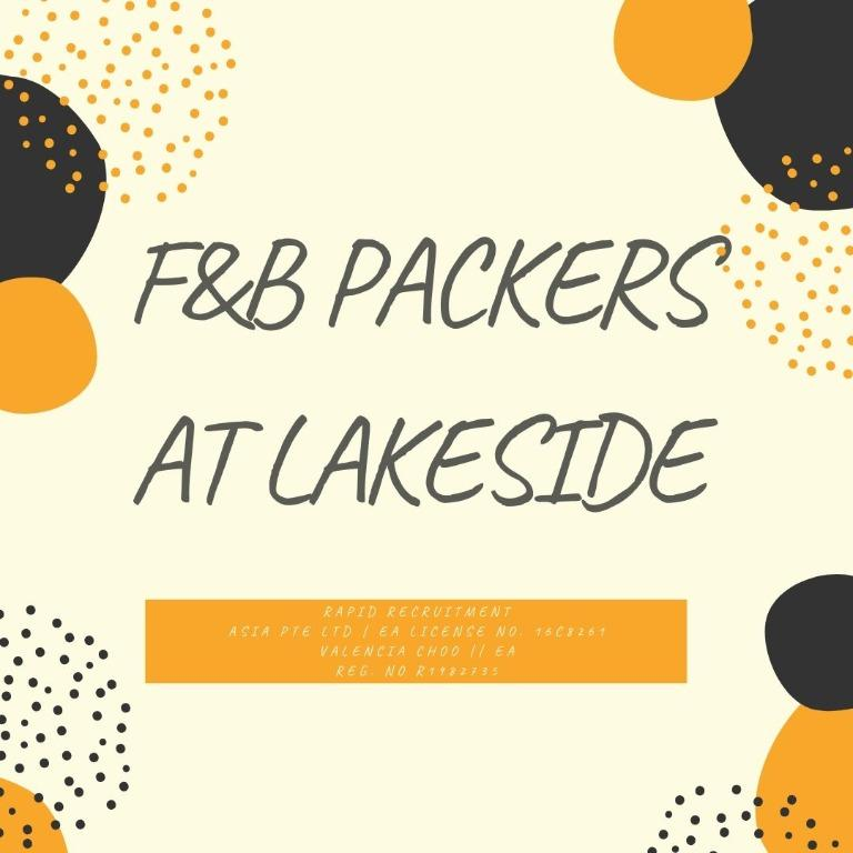 F&B Packer @ Lakeside (Fast hiring | 3 months | Start ASAP)