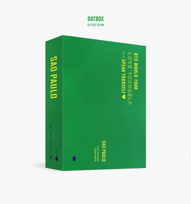 [GROUP ORDER] BTS WORLD TOUR 'LOVE YOURSELF: SPEAK YOURSELF' SAO PAULO DVD