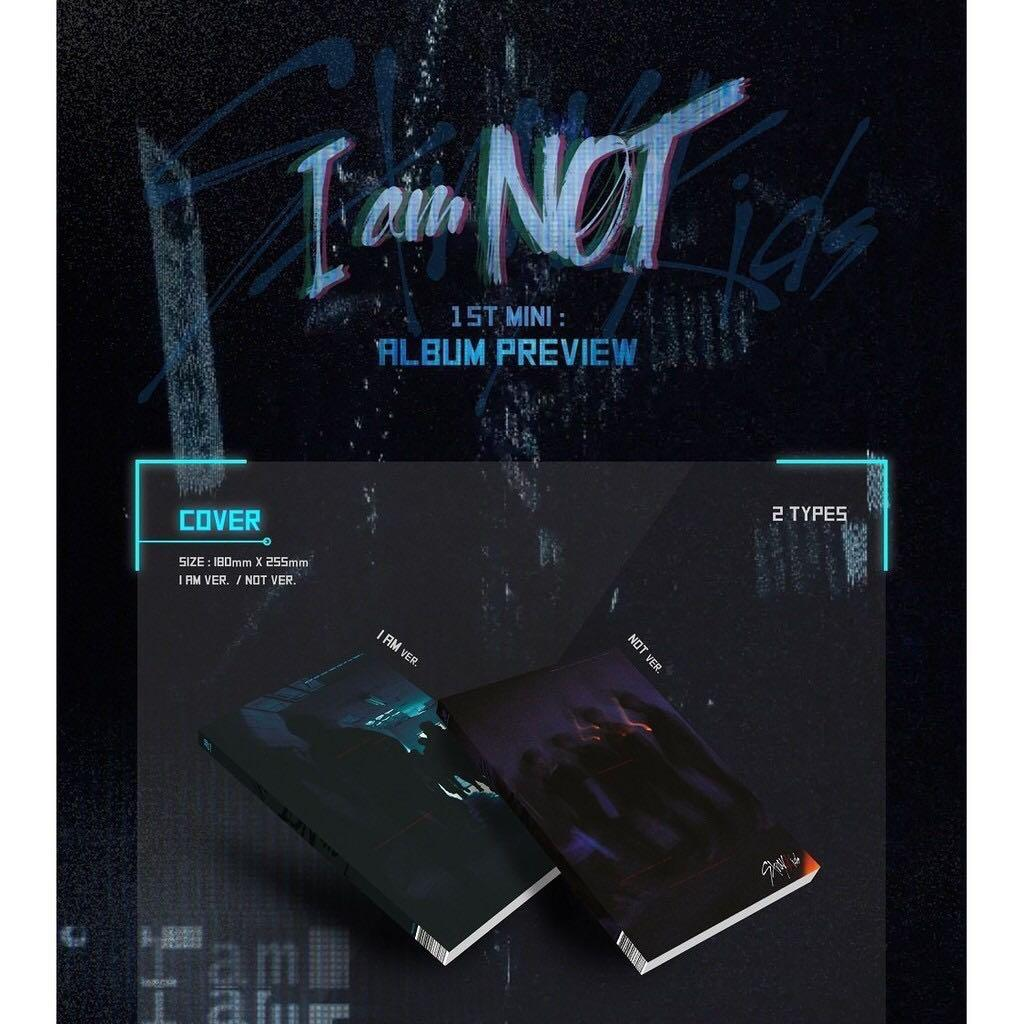 JYP Entertainment STRAY KIDS - I am NOT CD+Photobook+3Photocards