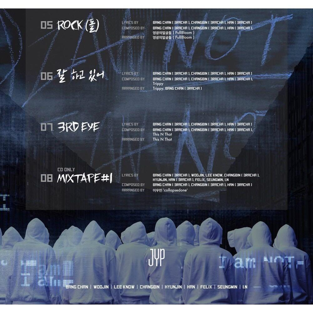 JYP Entertainment STRAY KIDS - I am NOT CD+Photobook+3Photocards