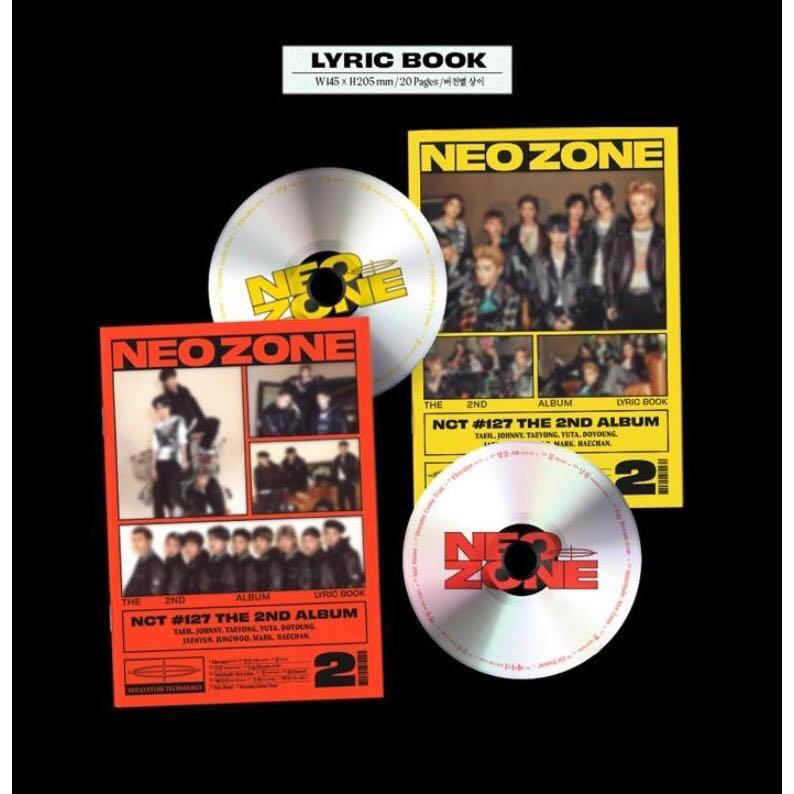 NCT 127 NCT127 The 2nd Album NEO ZONE N Ver. / V. Ver / T Ver. / SET