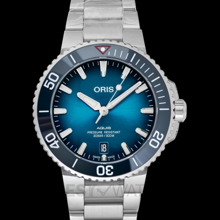 [NEW] Oris Aquis Clean Ocean Limited Edition Automatic Blue Dial Men's Watch 01 733 7732 4185-Set
