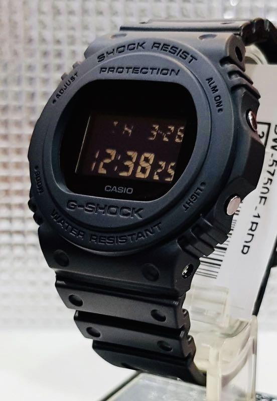 NEW🌟GSHOCK : UNISEX DIVER SPORTS WATCH : 100% ORIGINAL AUTHENTIC CASIO G-SHOCK : DW-5750E-1B / DW-5750-1 (FULL-BLACK)