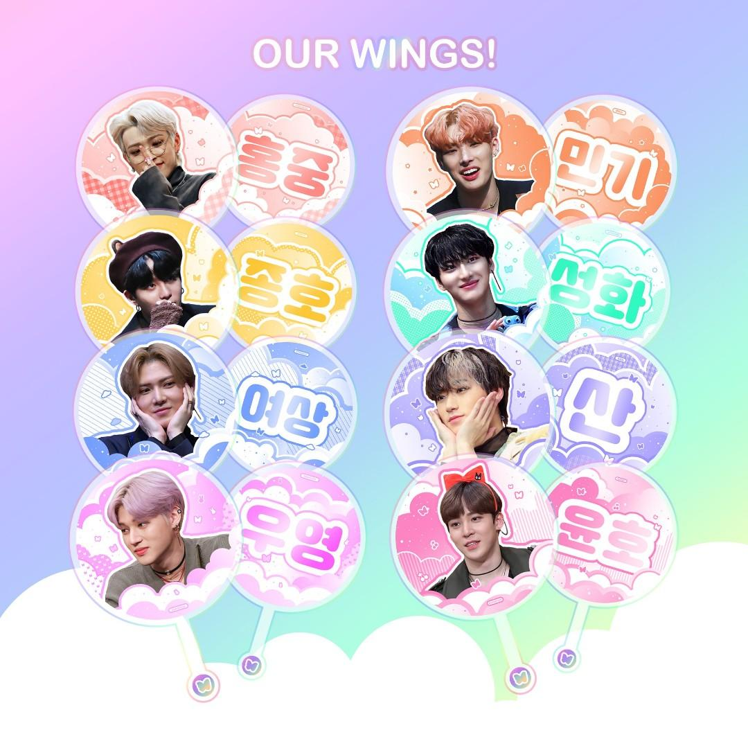 OUR WINGS ATEEZ PICKET (LARGE FANS) by @atiny_presents