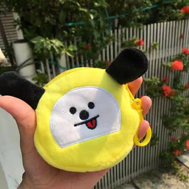 Pouch koin dompet koin bt21 bts , tata chimmy RJ cooky