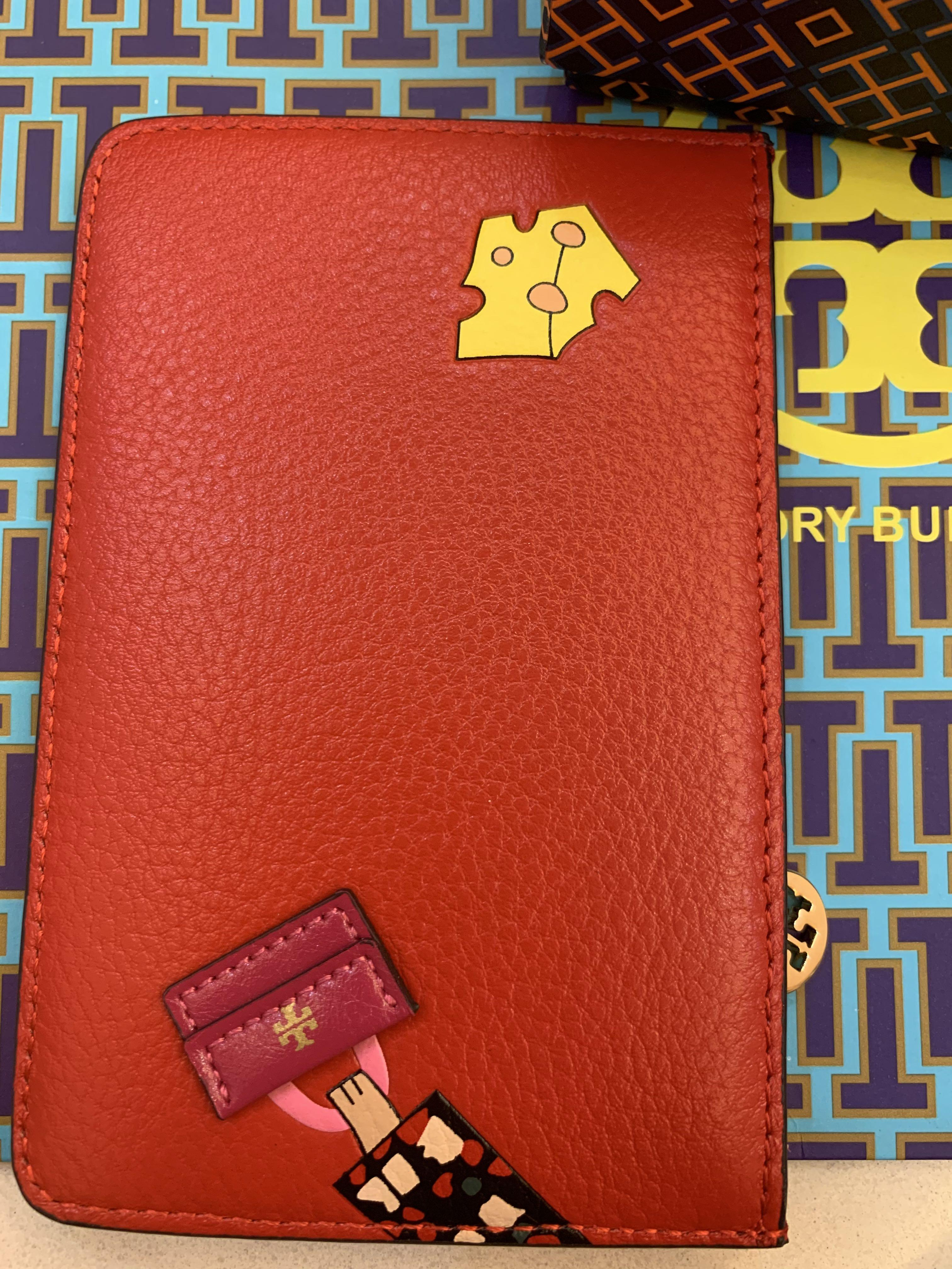 Ready stock authentic Tory Burch lunar mousse card holder mouse card holder wallet lanyard