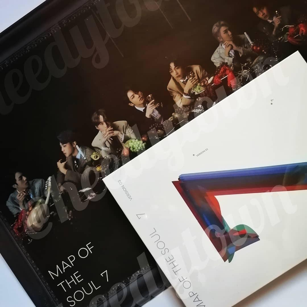 (READY STOCK) BTS - MAP OF THE SOUL : 7 Version 3 with Poster (Sealed)
