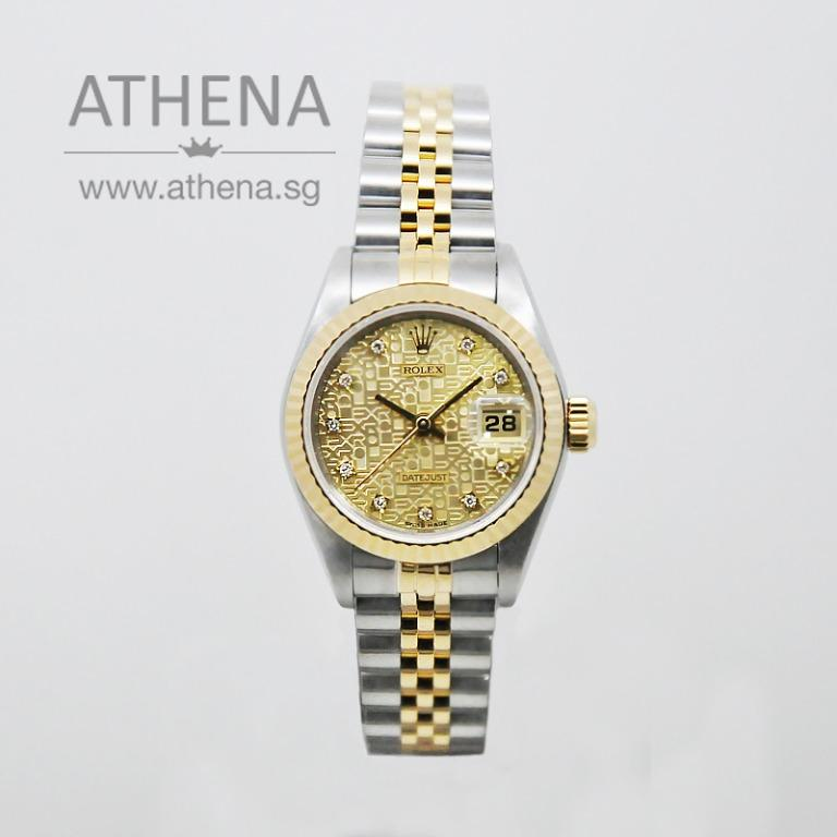 """ROLEX """"HALF-GOLD"""" OYSTER PERPETUAL LADIES DATEJUST """"S"""" SERIES """"CHAMPAGNE JUBILEE DIAMOND DIAL"""" 69173 WLWRL_1133"""