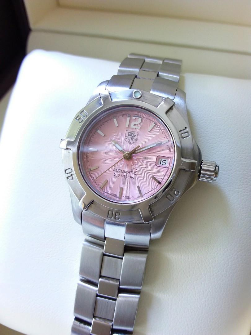Tag Heuer Pink Dial Automatic Silver Steel Ladies                                                    Rolex Tudor Cartier Omega Iwc AP Chopard Tag Heuer