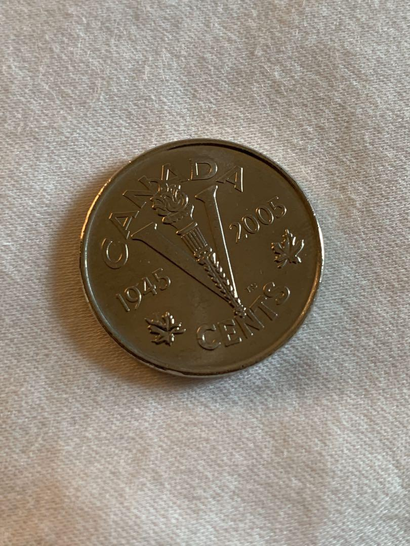 UNCIRCULATED CANADA 1945-2005 VICTORY NICKEL (5 cents)