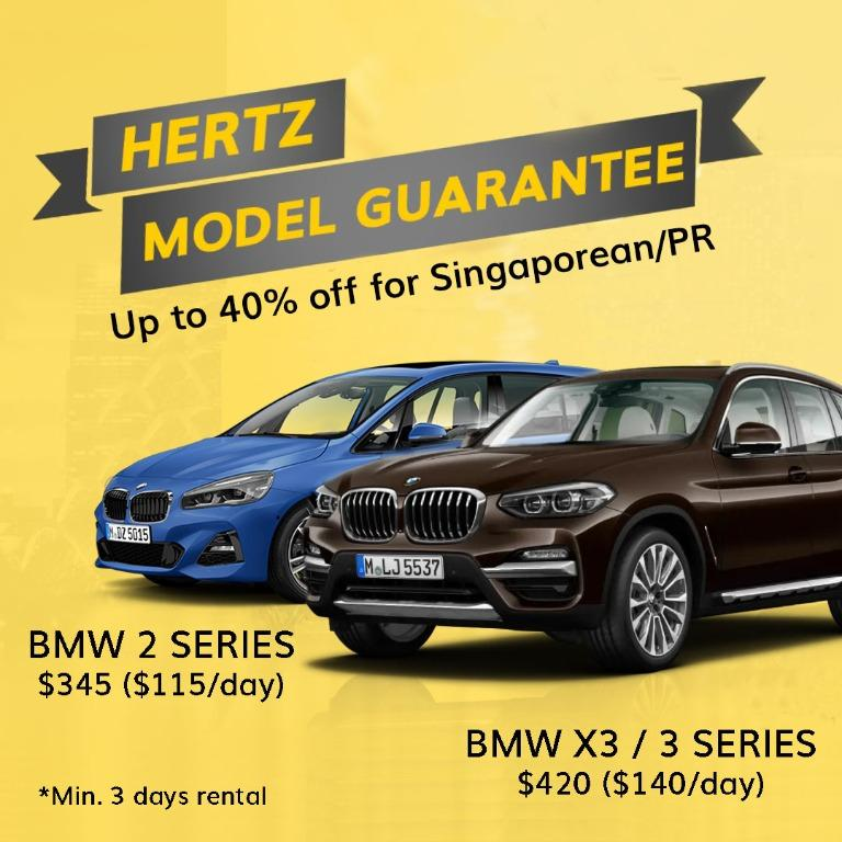 Up to 40% off Car Rental for Singaporean/PR + Model Guarantee