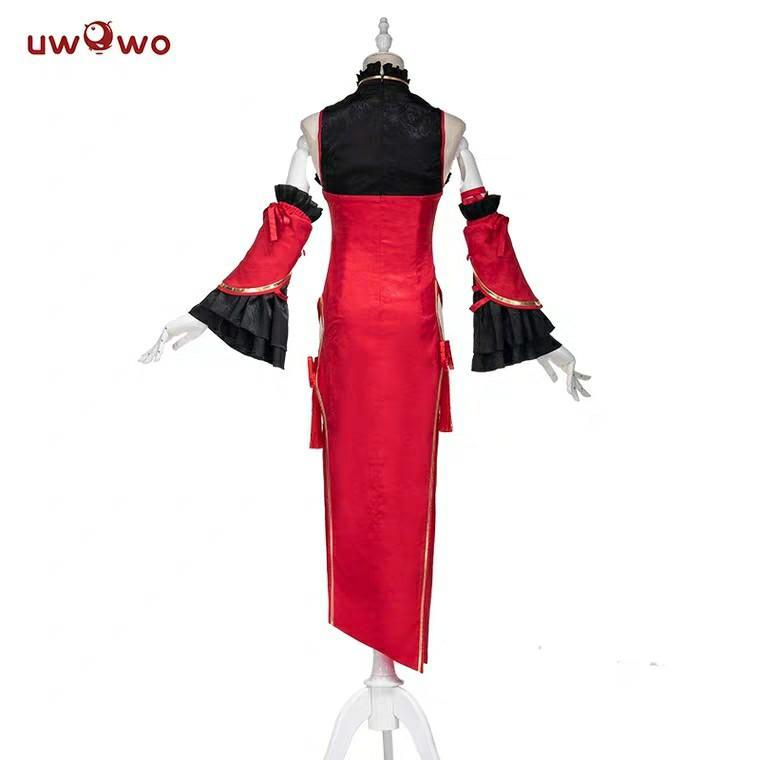 現貨悠窩窩Uwowo約會大作戰 約戰 時崎狂三cosplay 狂三新年旗袍