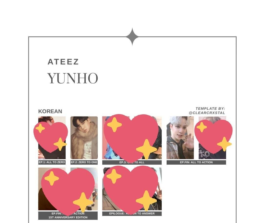 [WTS/WTT] Hongjoong to Mingi ATEEZ Epilogue Photocard (A Ver.)