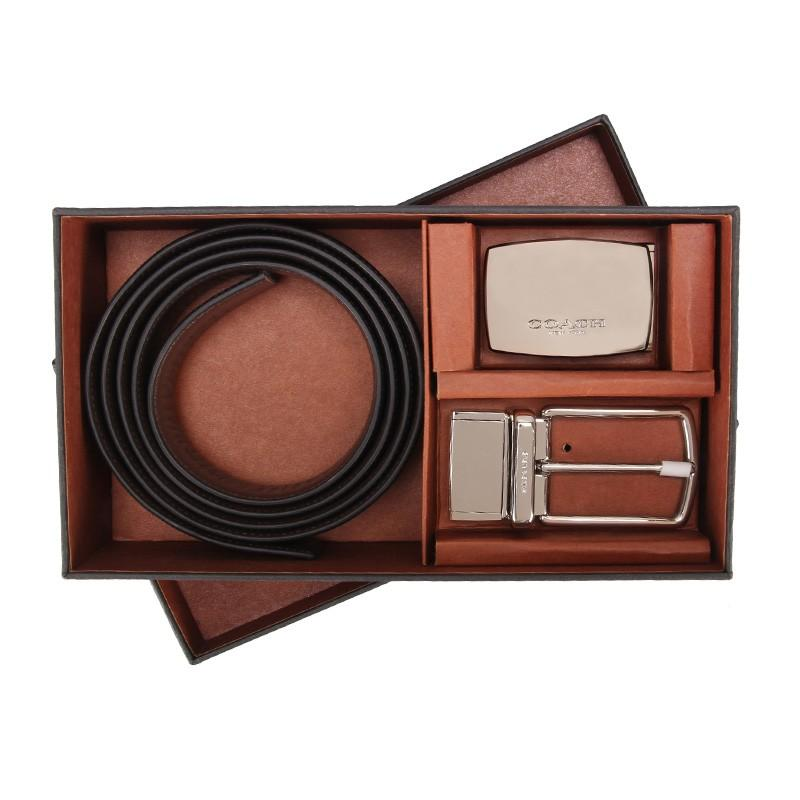 100% ORIGINAL READY STOCK MOD PLAQUE HARNESS CUT-TO-SIZE REVERSIBLE LEATHER BELT (COACH F65185)