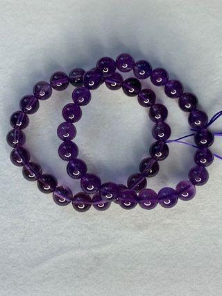 ❤️❤️烏拉圭紫水晶手串7.9mm/8.1mm/9.8mm