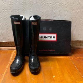 二手 附鞋盒 HUNTER Regent Neoprene UK6 EU39 US7 黑色亮皮雨鞋