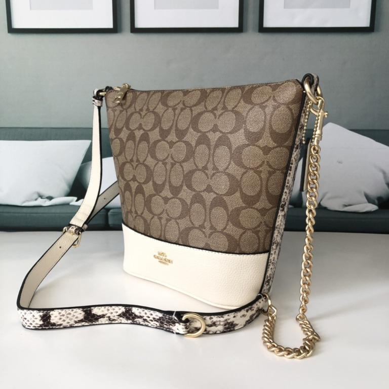 2020 new purchasing  Chi women's bag coachF76669 / 7258 autumn and winter bucket bag new chain shoulder shoulder portable messenger bag