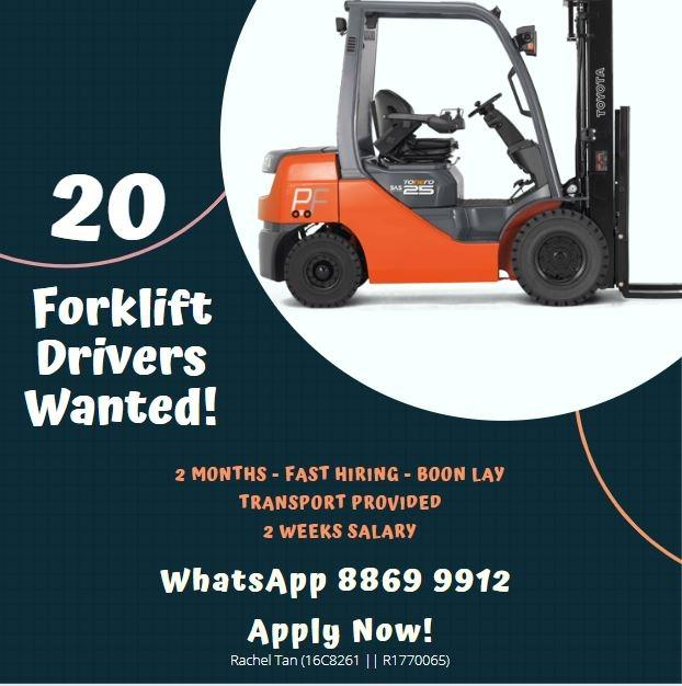 20 X Forklift Driver @ West (2 Mth | Fast Hire) - RRRT