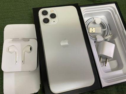 Authentic apple iPhone11 Pro 256GB factory unlocked Silver Apple Warranty Oct 16 2020