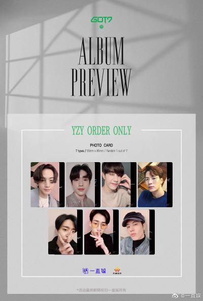 ⭐️ WTS ⭐️ GOT7 CALL MY NAME PHOTOCARD [ from 一直娛 ]