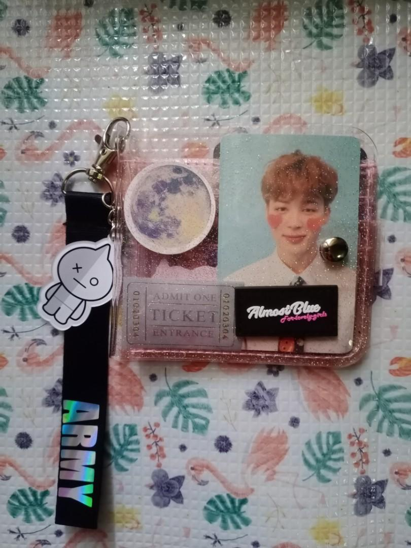 BTS photocard + almost blue jelly wallet (one set)