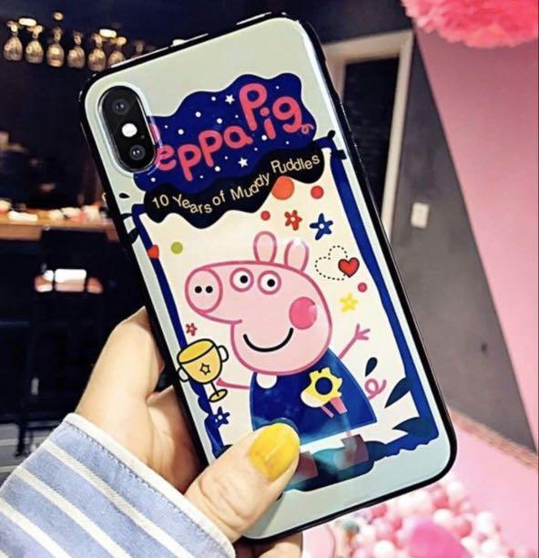 iPhone X / XS PEPPA PIG SILICONE TPU Durable Phone Case Back Cover Dropproof Waterproof Protect Camera Lens Scratch-Resistant High Quality Protective TPU Bumper Silicone Durable Phone Case
