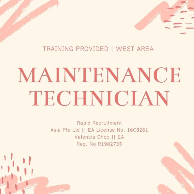 Maintenance Technician (West | Transport Provided | UP$2200)