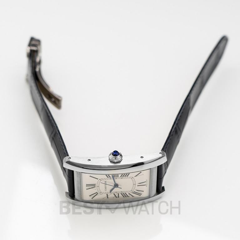 [NEW] Cartier Tank Américaine 45.10 mm x 26.60 mm Automatic Silver Dial Stainless Steel Men's Watch WSTA0018
