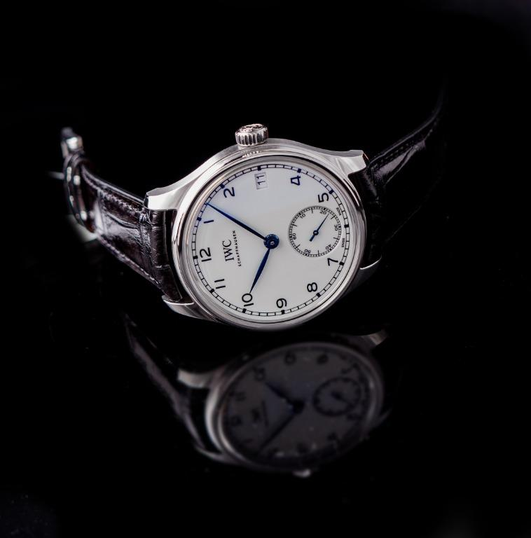 [NEW] IWC Portugieser Hand-Wound Eight Days Edition 150 Years Manual-winding White Dial Men's Watch IW510212