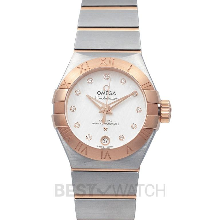 [NEW] Omega Constellation Co-Axial Master Chronometer 27mm Automatic Silver Dial Diamonds Red Gold Ladies Watch 127.20.27.20.52.001