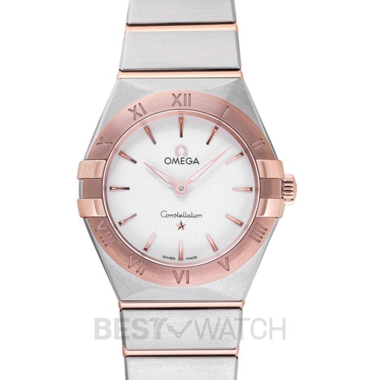 [NEW] Omega Constellation Manhattan Quartz 28mm Quartz Silver Dial Sedna™ Gold Ladies Watch 131.20.28.60.02.001