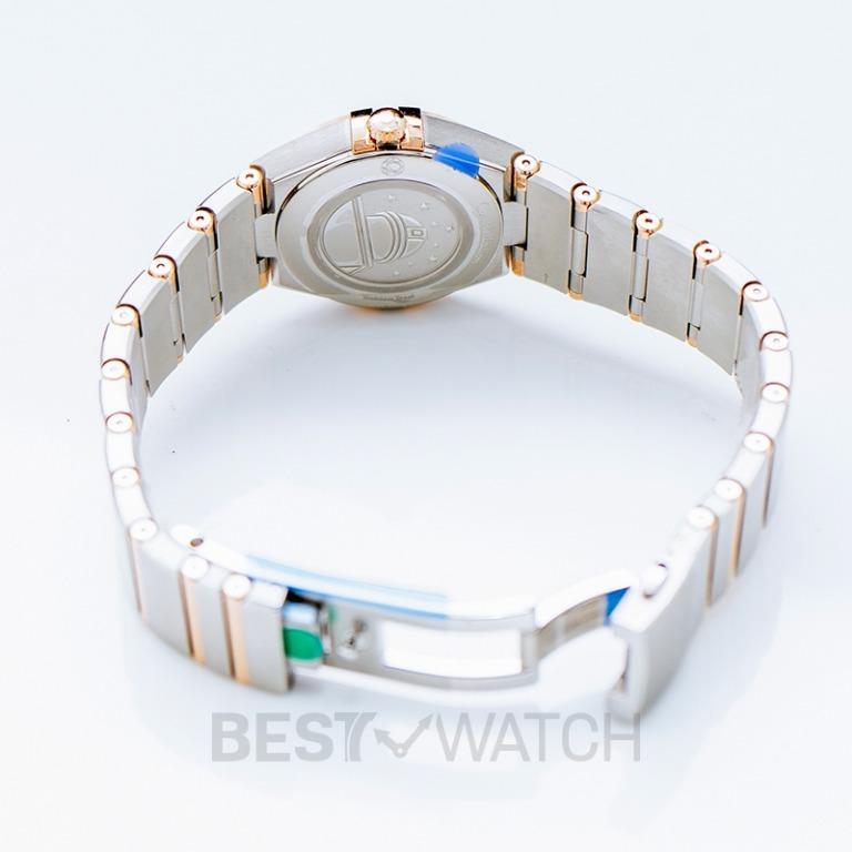 [NEW] Omega Constellation Manhattan Quartz 28mm Quartz White Mother Of Pearl Dial Gold Ladies Watch 131.20.28.60.05.001