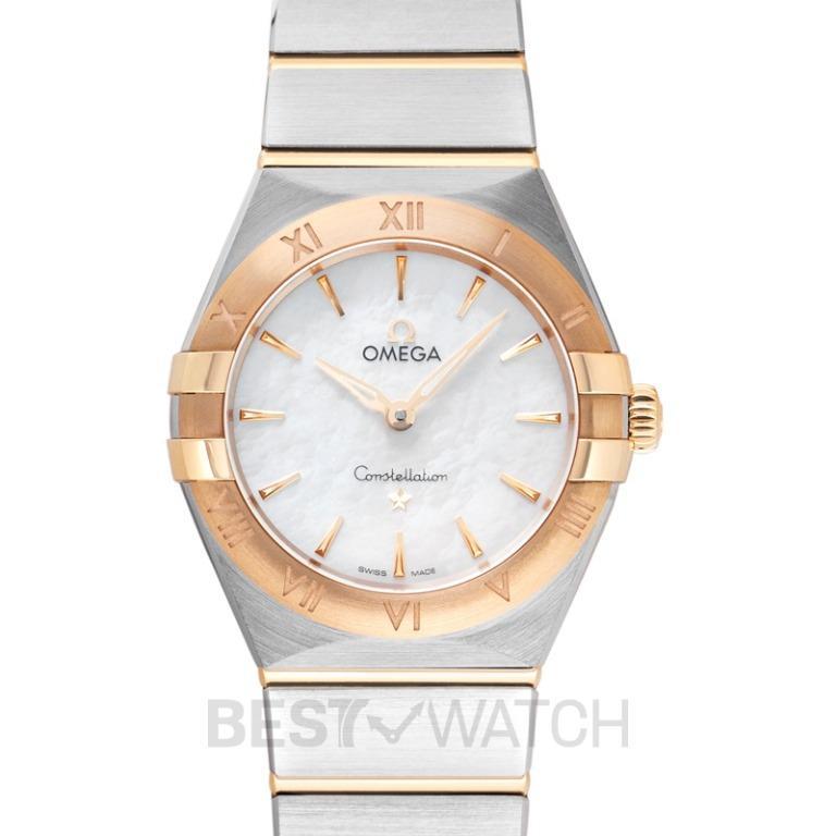 [NEW] Omega Constellation Manhattan Quartz 28mm Quartz White Mother Of Pearl Dial Yellow Gold Ladies Watch 131.20.28.60.05.002