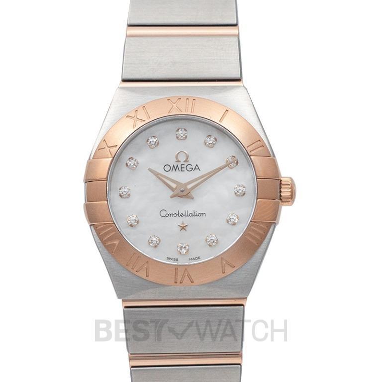[NEW] Omega Constellation Quartz 24mm Griffes Quartz White Dial Diamonds Red Gold Ladies Watch 123.20.24.60.55.001