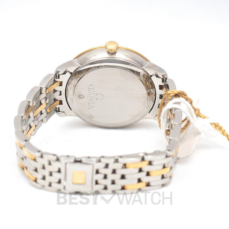 [NEW] Omega De Ville Prestige Co-Axial 32.7mm Automatic Champagne Dial Yellow Gold Ladies Watch 424.20.33.20.08.001