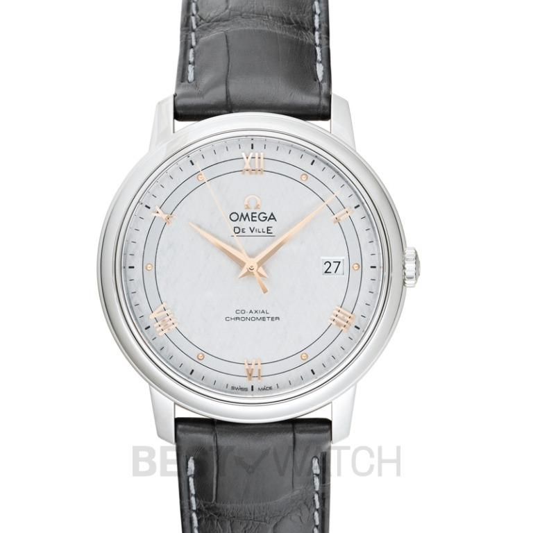 [NEW] Omega De Ville Prestige Co-Axial 39.5mm Automatic Silver Dial Stainless Steel Men's Watch 424.13.40.20.02.005