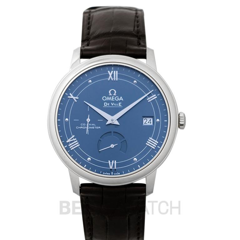 [NEW] Omega De Ville Prestige Co-Axial Power Reserve 39.5mm Automatic Blue Dial Steel Men's Watch 424.13.40.21.03.002