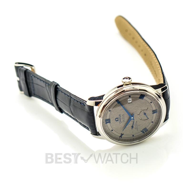 [NEW] Omega De Ville Prestige Co-Axial Power Reserve 39.5mm Automatic Grey Dial Steel Men's Watch 424.13.40.21.06.002