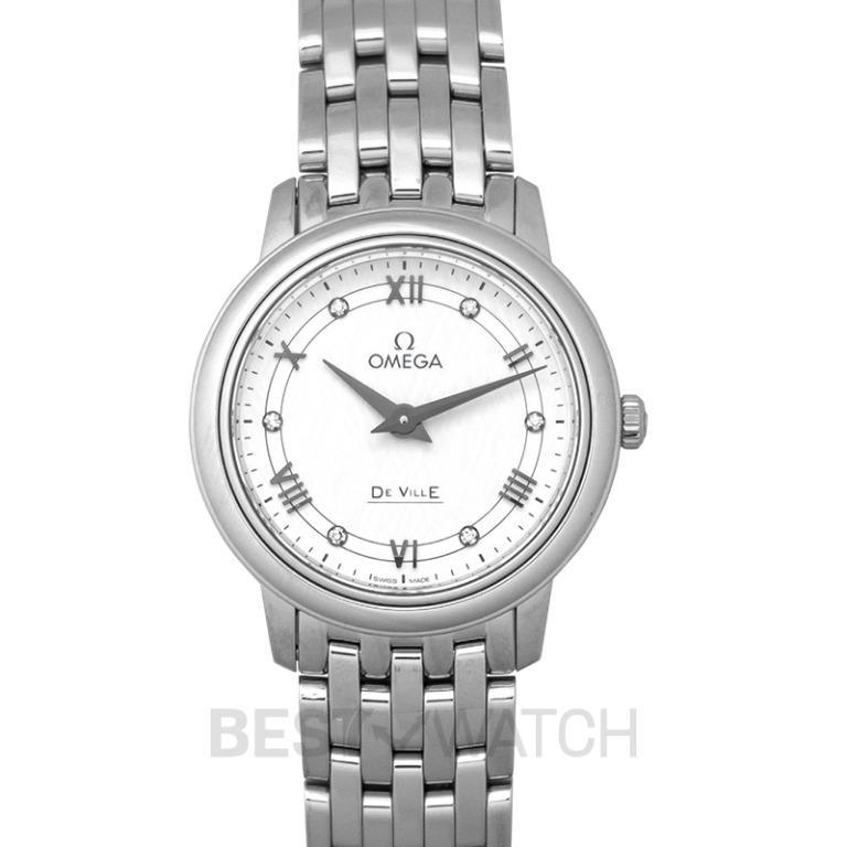 [NEW] Omega De Ville Prestige Quartz 27.4mm Quartz White Dial Stainless Steel Ladies Watch 424.10.27.60.52.002