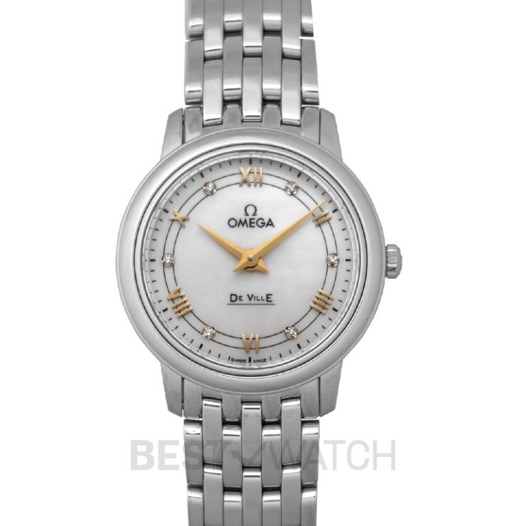 [NEW] Omega De Ville Prestige Quartz 27.4 mm Quartz White Mother Of Pearl Dial Steel Ladies Watch 424.10.27.60.55.001