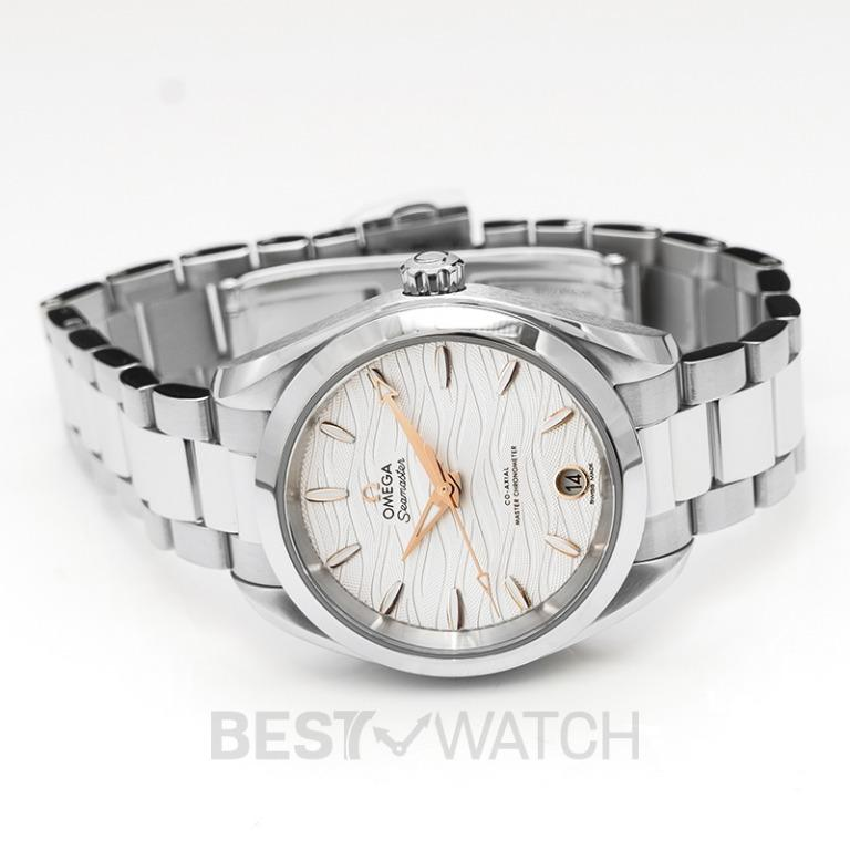 [NEW] Omega Seamaster Aqua Terra 150M Co-Axial Master Chronometer 34mm Automatic Silver Dial Steel Ladies Watch 220.10.34.20.02.001