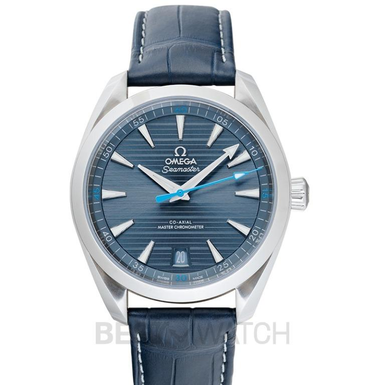 [NEW] Omega Seamaster Aqua Terra 150M Co-Axial Master Chronometer 41mm Automatic Blue Dial Steel Men's Watch 220.13.41.21.03.002