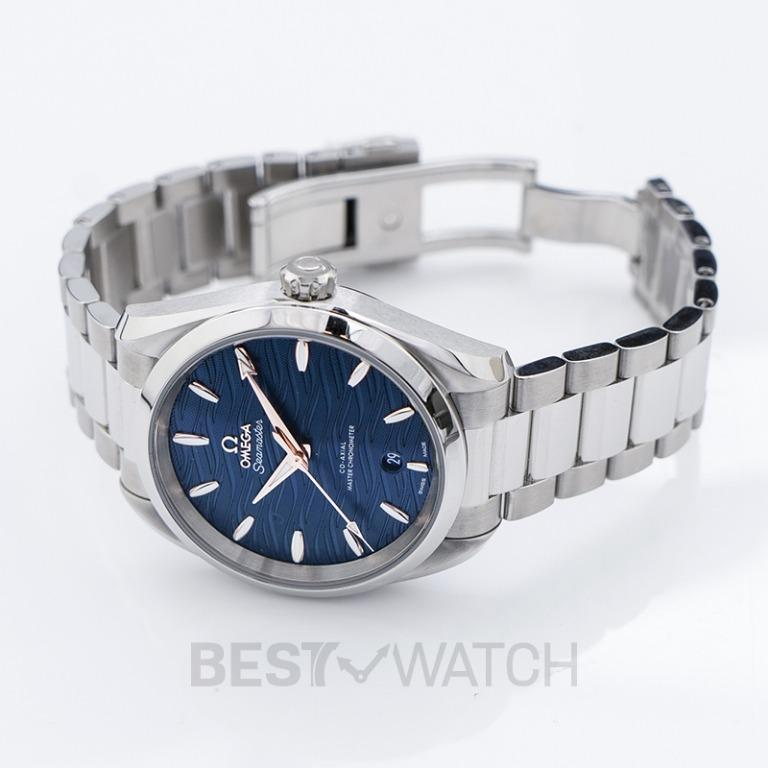 [NEW] Omega Seamaster Aqua Terra 150M Co-Axial Master Chronometer Ladies' 38mm Automatic Blue Dial Steel Ladies Watch 220.10.38.20.03.002