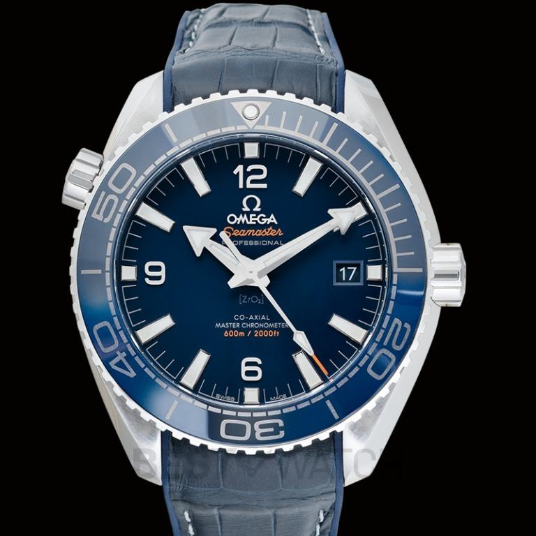 [NEW] Omega Seamaster Planet Ocean 600M Co-Axial Master Chronometer 43.5mm Automatic Blue Dial Steel Men's Watch 215.33.44.21.03.001