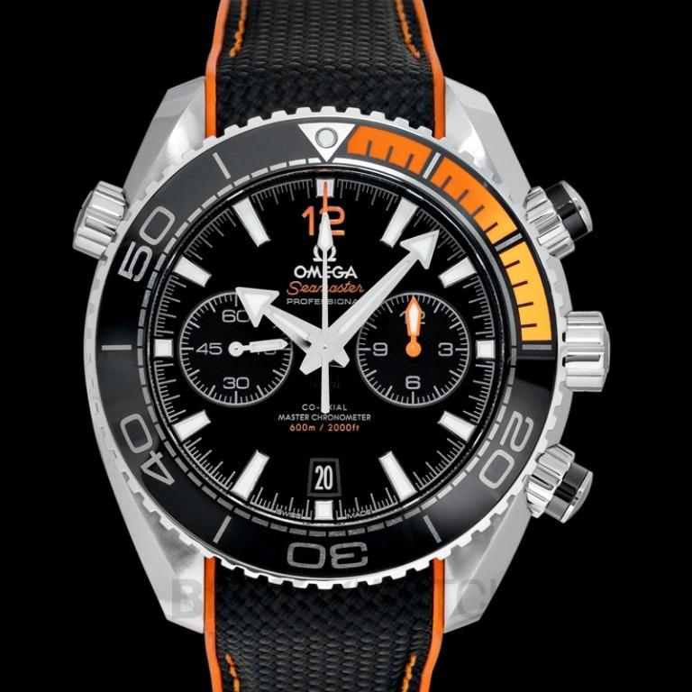 [NEW] Omega Seamaster Planet Ocean 600M Co-Axial Master Chronometer Chronograph 45.5mm Automatic Black Dial Steel Men's Watch 215.32.46.51.01.001