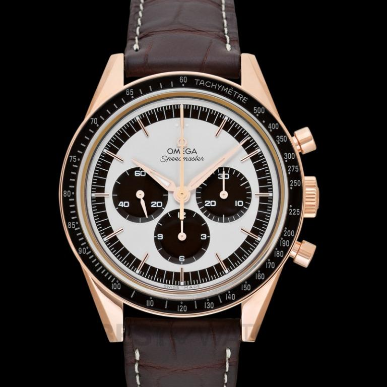 [NEW] Omega Speedmaster Moonwatch Chronograph 39.7mm Manual-winding Silver Dial Sedna™ gold Men's Watch 311.63.40.30.02.001