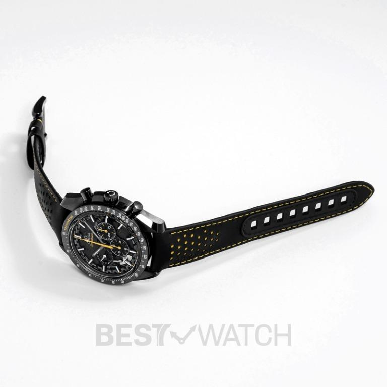 [NEW] Omega Speedmaster Moonwatch Chronograph 44.25 mm Manual-winding Black Dial Black ceramic Men's Watch 311.92.44.30.01.001
