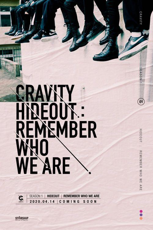 [PREORDER] CRAVITY SEASON 1 HIDEOUT : REMEMBER WHO WE ARE