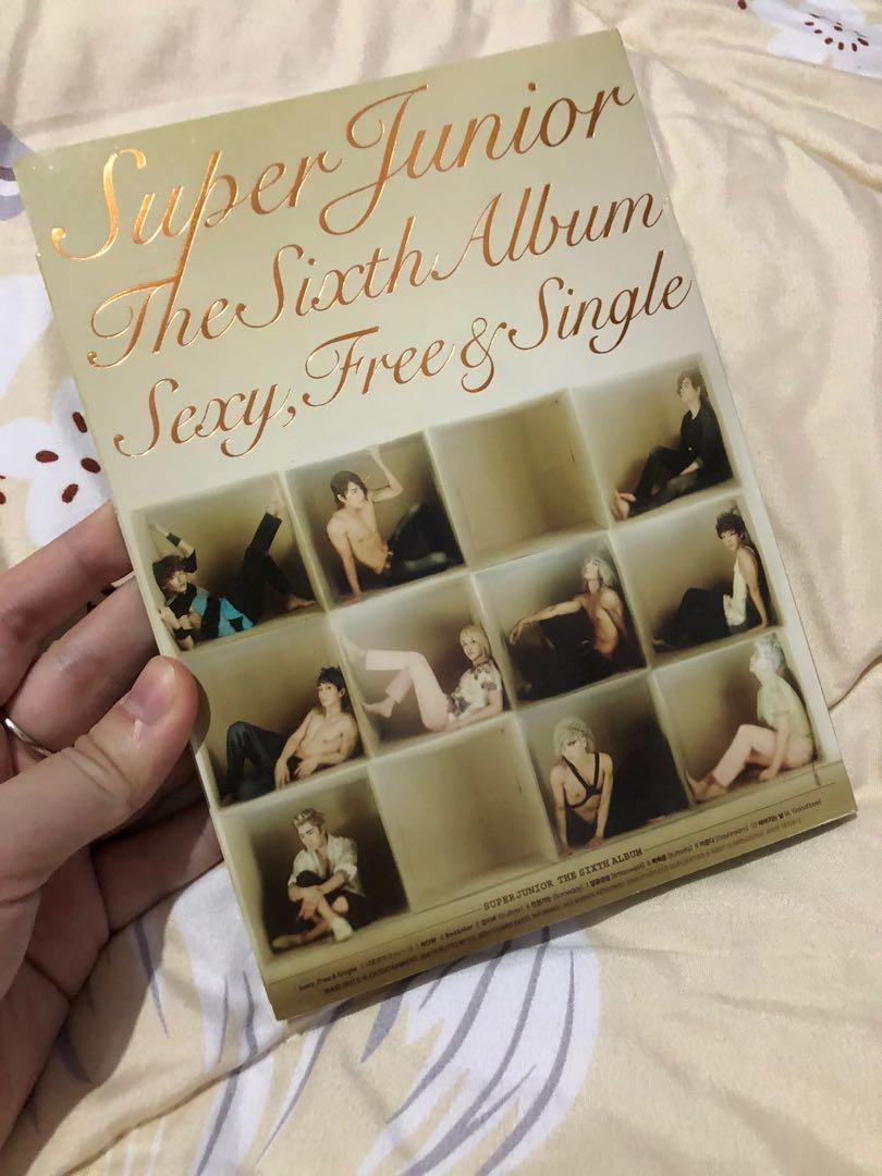 Super Junior 6th Album: Sexy, Free & Single + Photocard