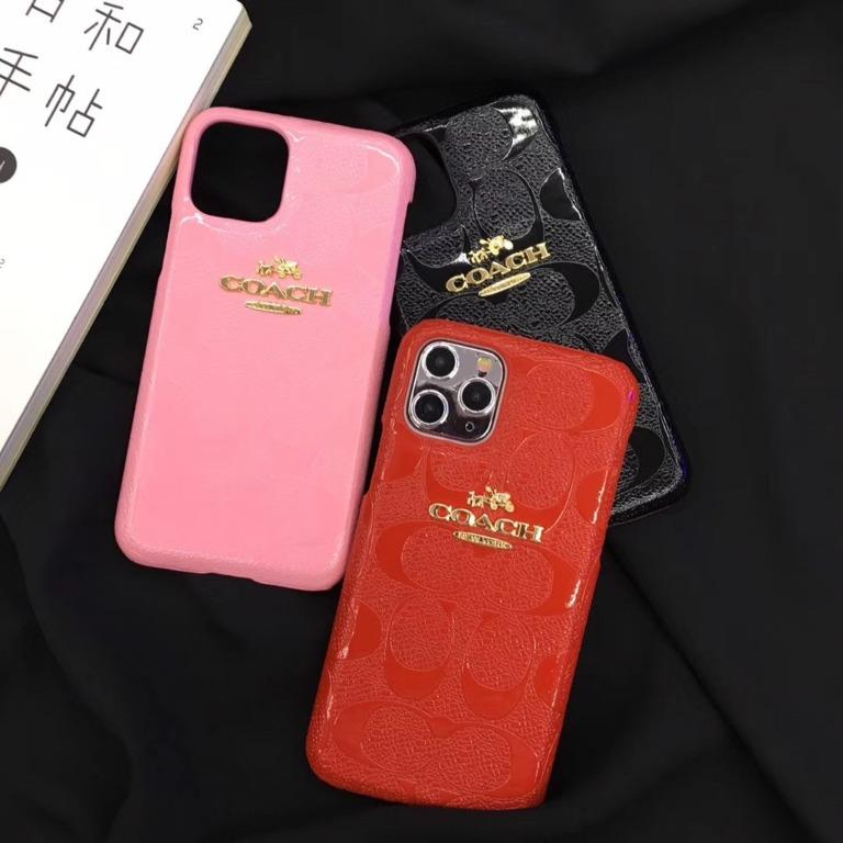 Tide brand coach galloping metal standard iphone11 / pro / xs / xr / max series iPhone case, shiny pu leather fashion goddess